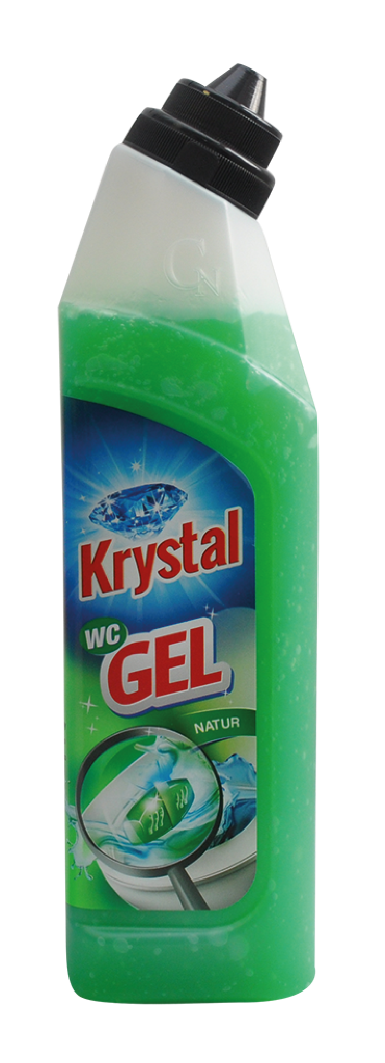 Krystal wc gel do košíčku, zelený 750ml